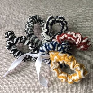 Free People Striped Scrunchies